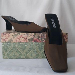 Moda Slides Rich Brown size 10
